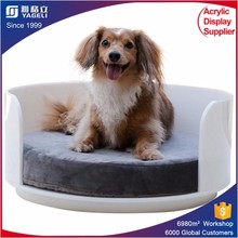 luxury handmade acrylic pet product pet bed /dog bed cushion/novelty clear pet bed