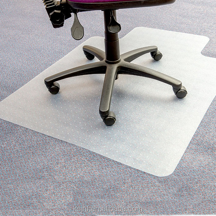 Durable Transparent Anti Slip floor protection PVC Chair Mat <strong>plastic</strong>