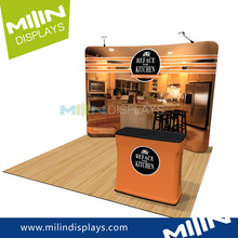 Exhibition Stand Curved Tension Fabric Wall Display
