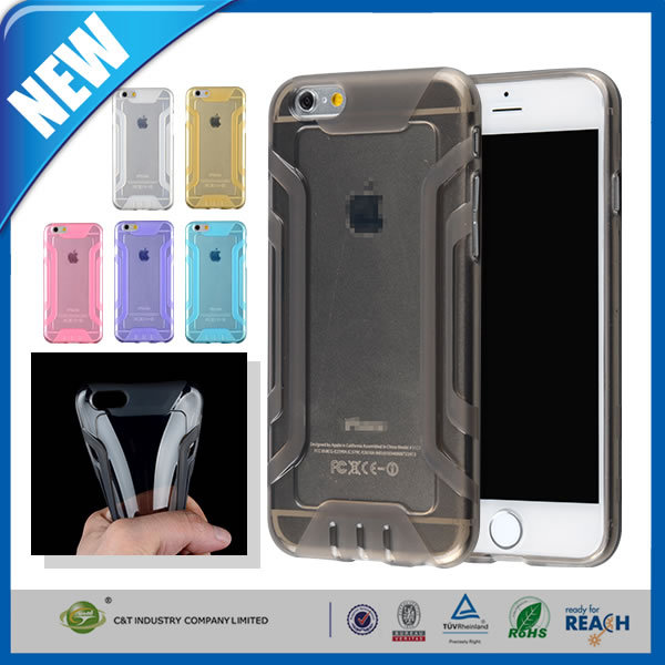 C&T Rugged Defender Clear Bumper TPU Mobile Phone Case For Iphone 6s