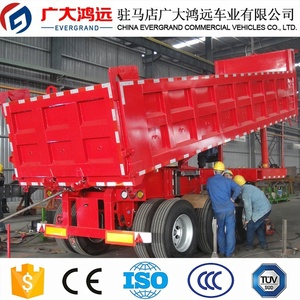 China EVERGRAND real factory small dump trailer tipper semi trailer