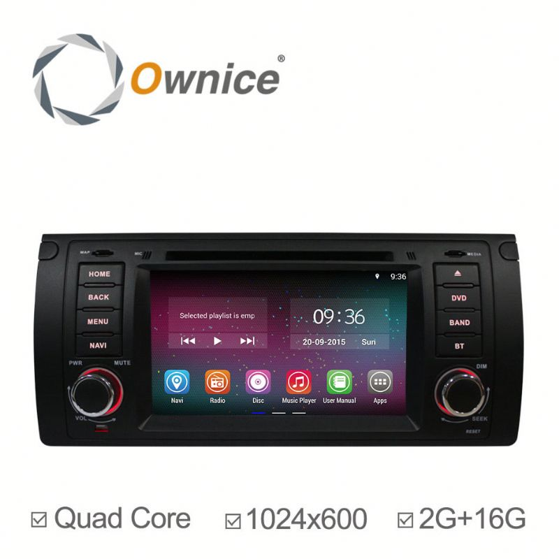 "7"" Quad core Android 4.4 up to android 5.1 car head unit for BMW E39 M5 with Wifi 2G+16G 1024*600"