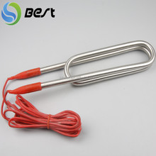 Security oil, water straight coil heater