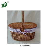 2014 Poly rattan hanging chair willow basket