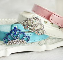 Fashion Diamante Crown Dog Collar Rhinestone Collar Pet Products Pet Accessories Wholesale Collar For Dog Best Selling Products
