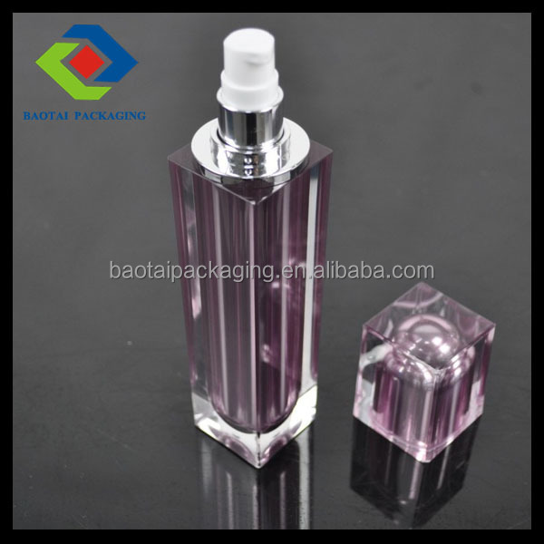 natural cosmetic container PMMA 60ml facial square spray bottle