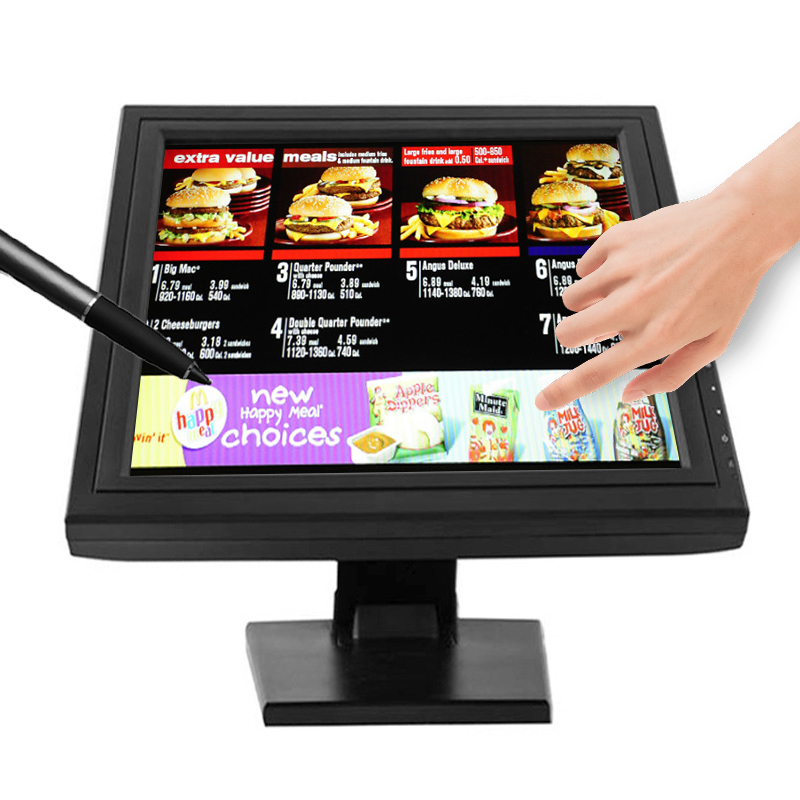 CE ROHS certificated supporting pos Raspberry Pi 12 15 17 inch TFT LCD 10 point touch screen <strong>monitors</strong>