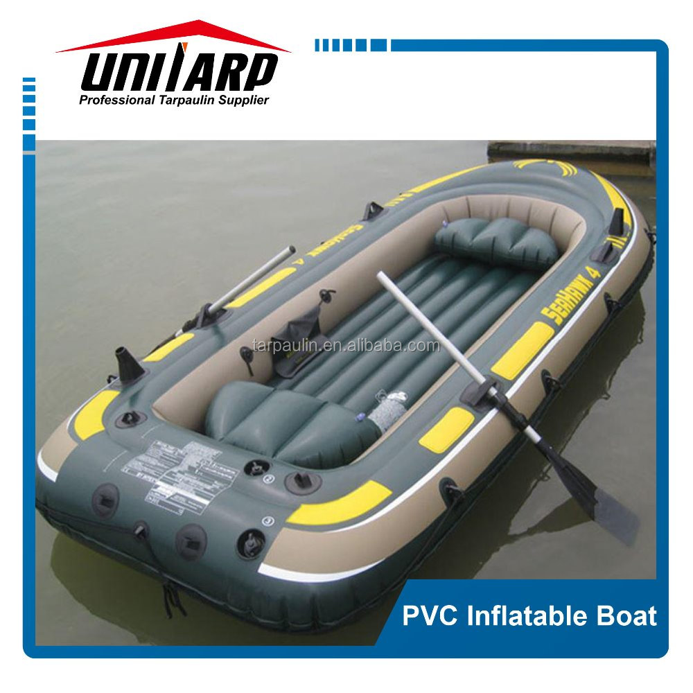PVC inflatable fishing rubber boat rowing kayak