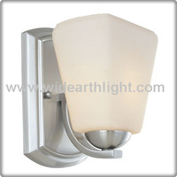 UL CUL Listed Painted Silver Hotel Wall Light With Glass Shade W50157