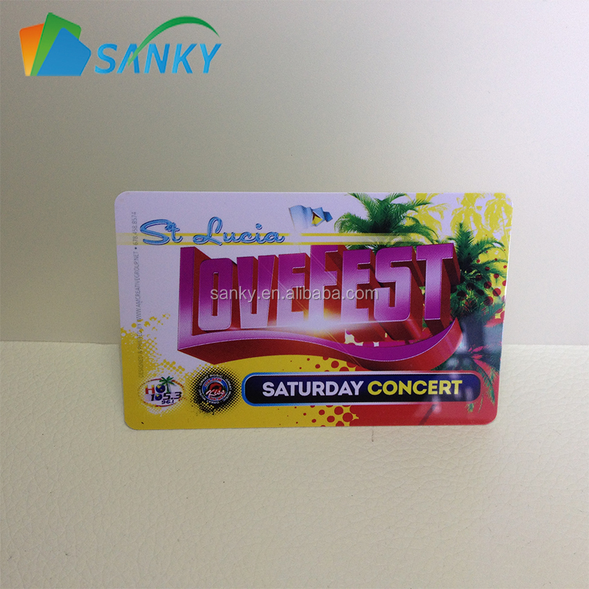 Plastic Concert Ticket Card Printing