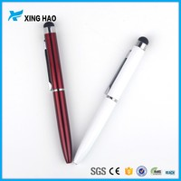 2016 Wholesale 2 in 1 Cheap mini metal touch screen pen for laptop promotional smartphone touch stylus pen made in china