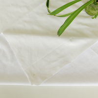 80%cotton 20 polyester terry cloth laminated with TPU, PU, PE, PVC waterproof breathable bedding fabric