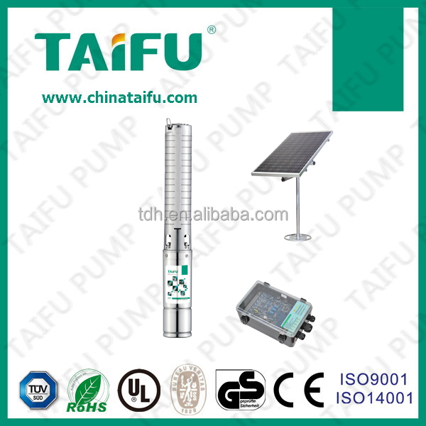 TAIFU stainless steel 316 submersable battery powered taizhou 12v solar pump