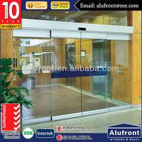 Commercial Framelss Automatic Sliding Glass Doors/Gate Sensor Door Price