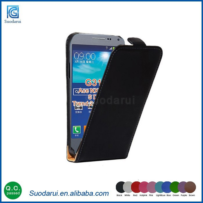 Ultra Slim leather flips case for Samsung galaxy S Duos 3 Customized phone case