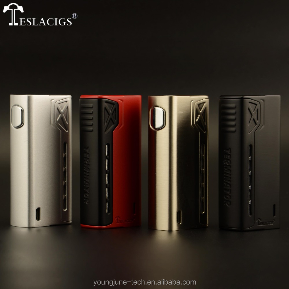 Tesla Mechanical Mod Available Now!Tesla Terminator 90W Mechanical Device with One 18650 Battery Cell As Christmas Gift