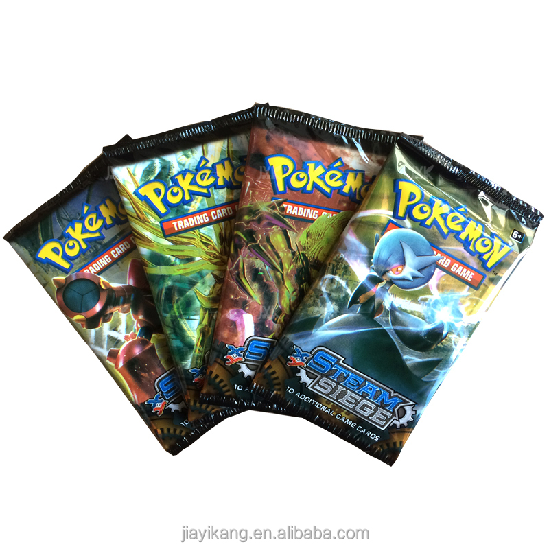 Pokemon booster box trading cards with random cards rarity