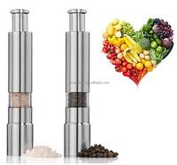Sleek Design Peppercorns Sea Salt Himalayan Salt Spices Stainless cool salt and pepper grinders