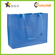 china suppliers accept custom promotional cheap recyclable blue large pp non woven shopping bag