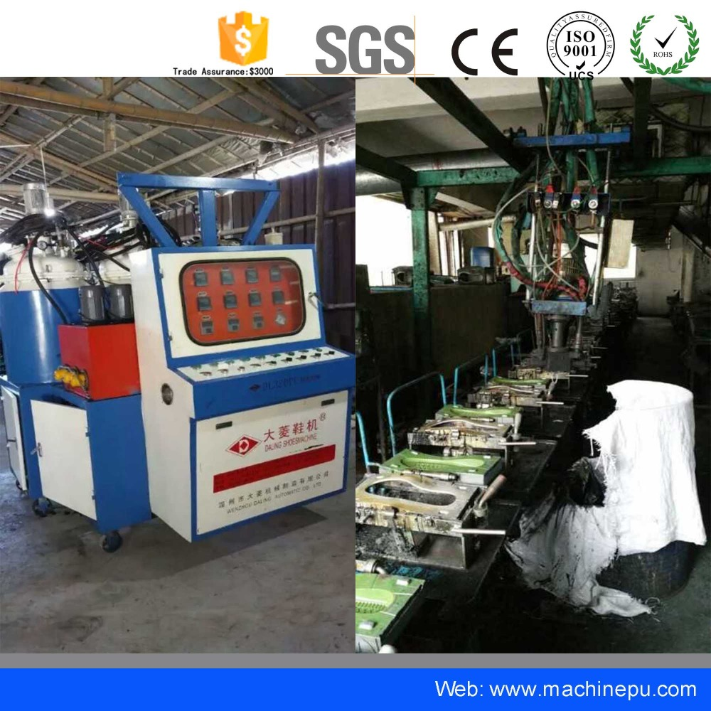 Used Polyurethane PU Shoe Sole Injection Molding Making Machine