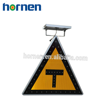 Battery powered led warning triangle traffic signal signs