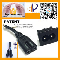 Manufacture Power 2 Pin Male Female Connector For C7 Power Cable Ends Connector