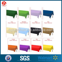 The Newest Custom Fitted Plastic Table Cover/Hard Plastic Table Cover /Table Cloth for Sell