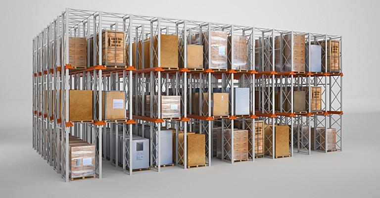 Steel Structure Warehouse System Storage Racks Store Shelving
