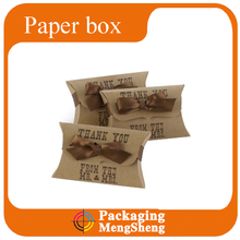 Custom paper pillow indow box for packaging case