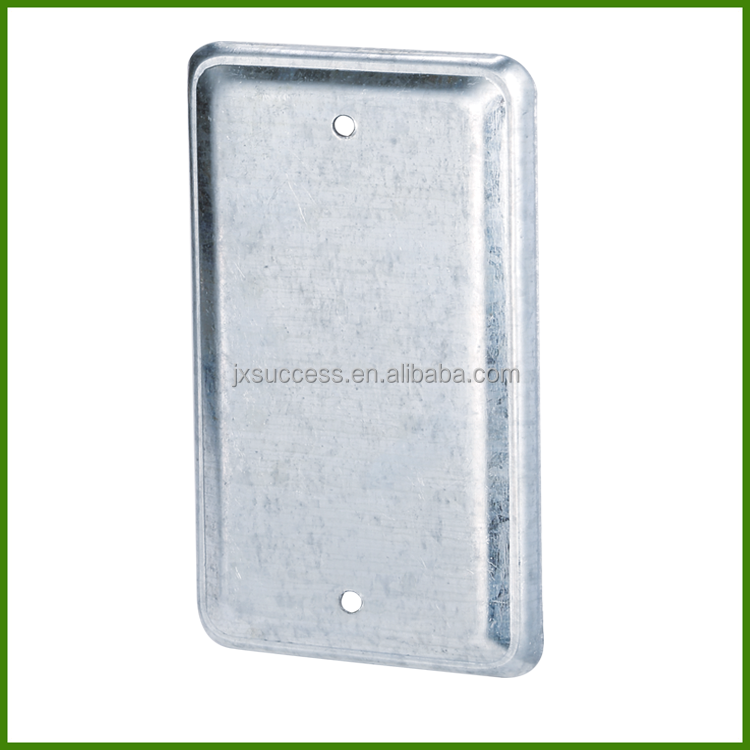 4X2 Inch Handy Utility Rectangle Metal Conduit Box Cover