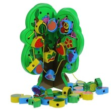 Fruit tree shape wooden toys for kids,wooden puzzle