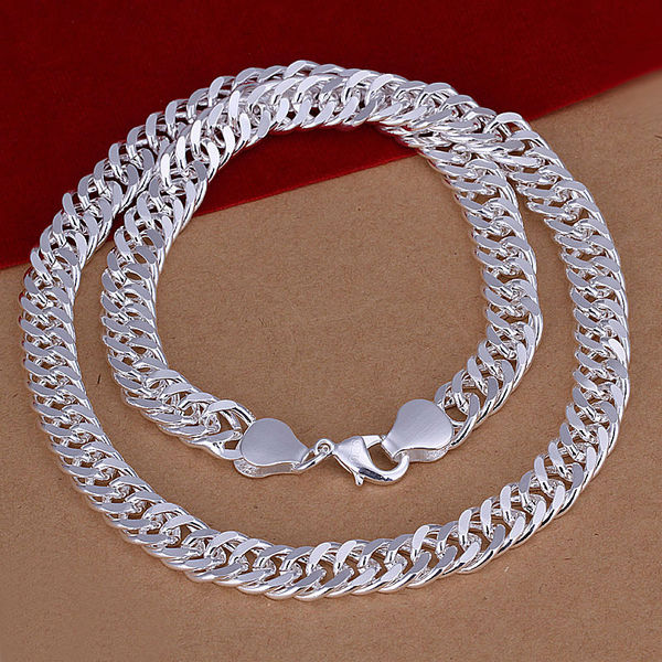wholesale thick 10mm 20inchs chain 2014 fashion jewelry 925 sterling silver necklace