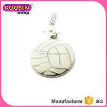 Custom design jewelry white enamel volleyball pendant