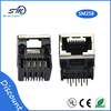 8p8c semi-shield socket RJ45 jack plug and socket connectors