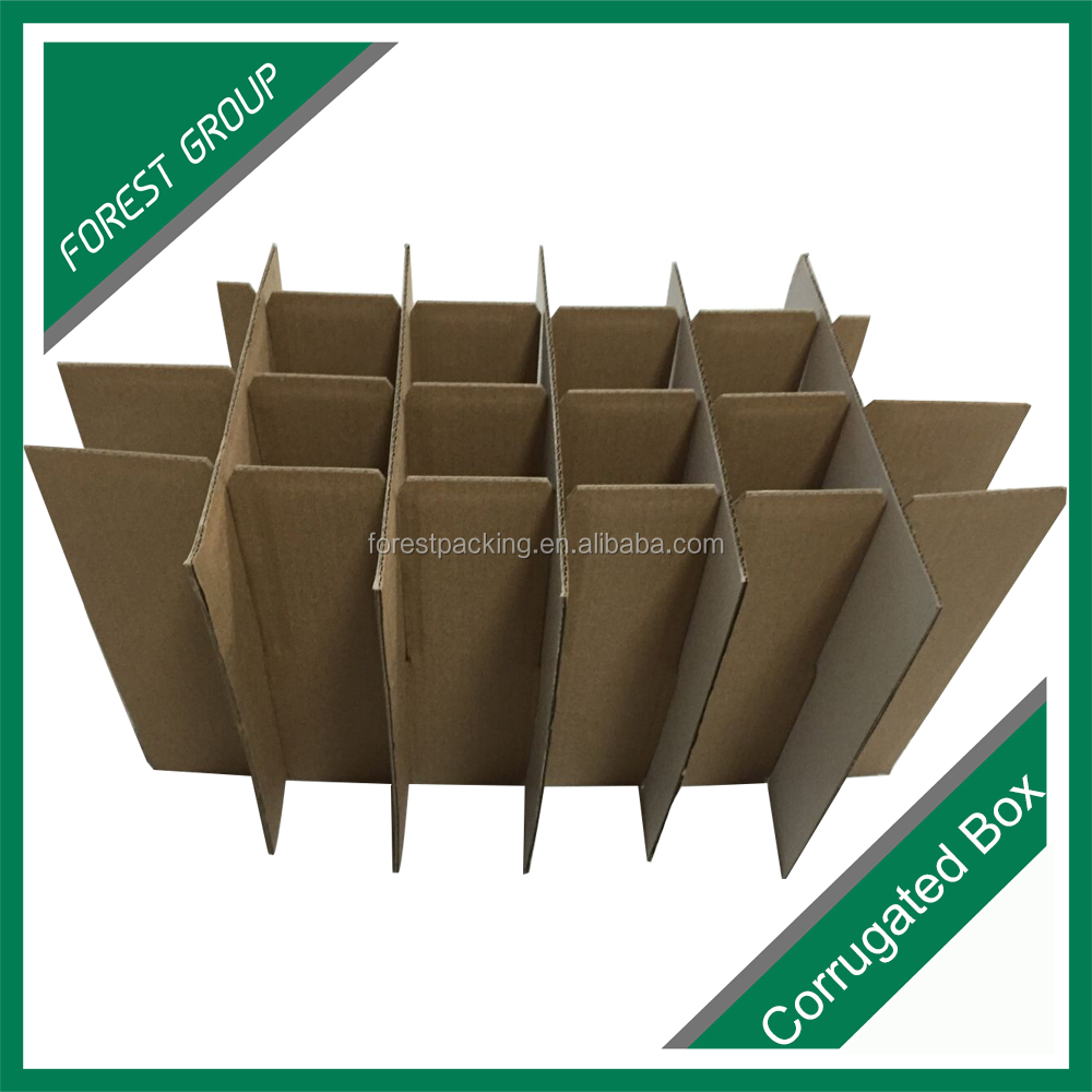 OEM factory custom order accept corrugated paper partition box