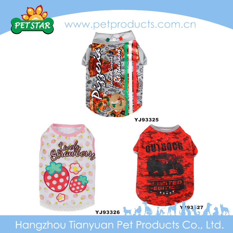 New Design Luxury Promotion Wholesale Cute Funny Cute Pet Clothing