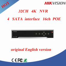 32ch cctv nvr Hikvision 4k and h.265 nvr upto 12MP nvr poe