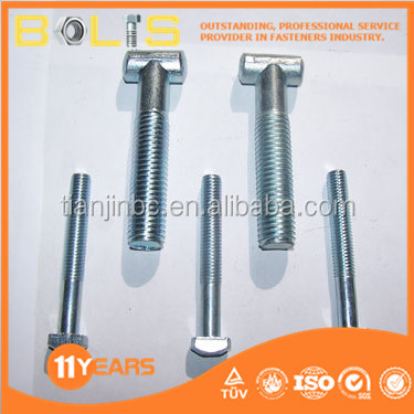 Zinc-plated T-head bolts DIN 261 made in china