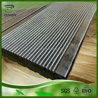 Raw material renewable outdoor strand woven bamboo decking