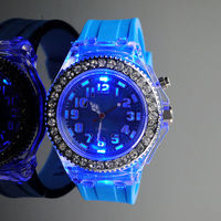 Fashionable blue custom made silicone watches
