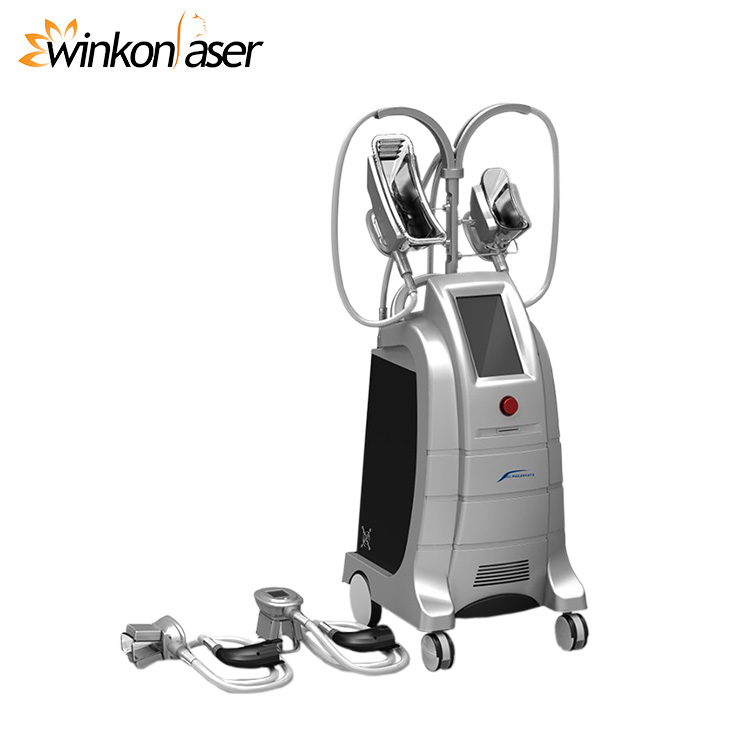 2017 hot sale 4 cold handles cool tech fat freezing body slimming machine for salon