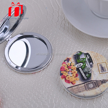 Wedding Favors Engraved Bridal Stones Metal Cosmetic Compact Antique Makeup Mirror