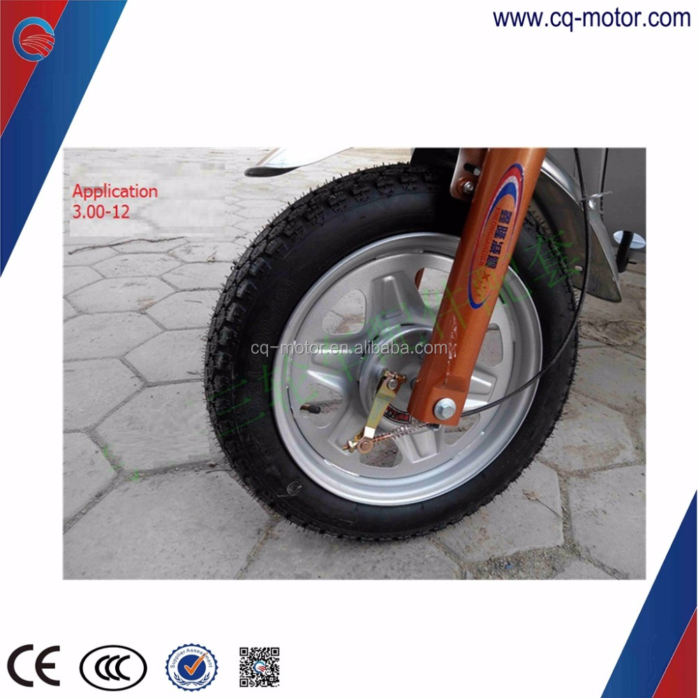 tube rubber tyre steel wheel rim 3.00-12 tyre for electric vehicle