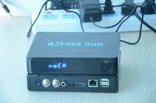 Stocks for 2016 Newest decoder AZFREE DUO With iks free and sks twin tuner with iptv,3G gprs,usb wifi for South America