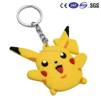 Custom Pokemon Go PVC Cartoon Keychain Key rings for Promotion