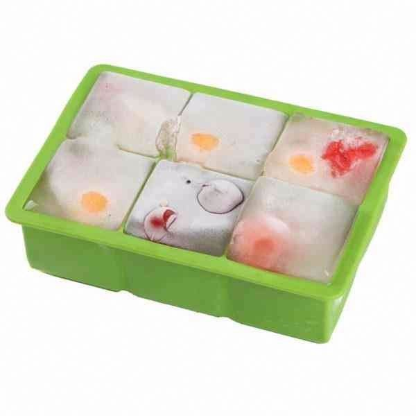 promotional gift Silicone Jumbo Ice Cube Tray Creates 6 pcs Ice Cube Makes 5*5cm Cubes