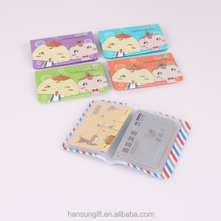 Wholesale PVC plastic vinyl student card holder wallet with 12 pockets