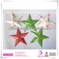 Cheap outdoor Christmas decoration, christmas tree ornament, metal christmas star