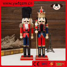 Handsome nutcracker soldier, christmas decorating wooden nutcracker