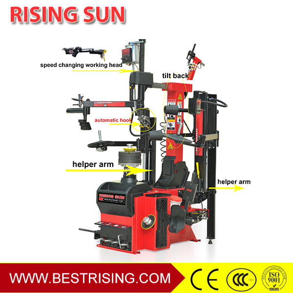 Full automatic tyre changing machine for car workshop
